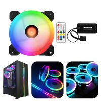 LOT 4-LED COOL /& QUIET 120MM NEON BLUE LED MOLEX PC COMPUTER CASE COOLING FAN HM