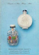 RARE - DROUOT PARIS CHINESE SNUFF BOTTLES Auction Catalog 1978