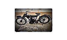 1925 Levis Bike Motorcycle A4 Retro Metal Sign Aluminium