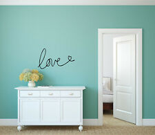 LOVE  heart Couple Wall Words Lettering Quote Decal Sticker Rustic Decor