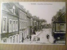 5. Guines, Grande Rue(cote Nord Ouest): France: Vintage Postcard