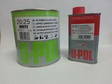 2K Primer Car Paint U-Pol High Build 1.25lt kit White -UK Mainland Delivery