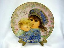 Mib W Coa Catherine And Heather Collector Plate Hibel 1987 Mother'S Day