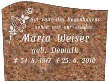 Grabstein, Liegestein, der Preis ist mit Inschrift