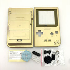 Gold Housing Shell Case Cover Lens Kits For Nintendo Game Boy Pocket GBP Console