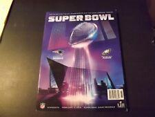 2018 Official Super Bowl Program - Philadelphia Eagles Champs!(Down)