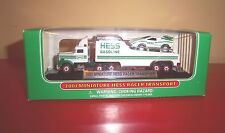 HESS GAS 2001 MINIATURE HESS RACER TRANSPORT COLLECTIBLE NEW IN BOX