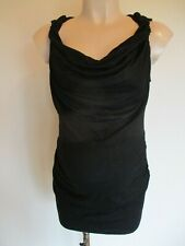 PATTYBOUTIK MATERNITY BLACK RUCHED VEST CAMISOLE TOP SIZE L UK 14-16 BNWT