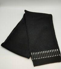 Ladies Black Warm Winter Wool Mix Scarf Studs