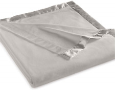 Martha Stewart Easy Care Soft Fleece Blanket King, Gray