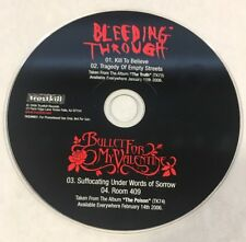 BULLET FOR MY VALENTINE BLEEDING THROUGH SAMPLER PROMO 4 SONGS CD