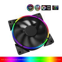 PCCOOLER 12cm RGB LED Light PC Cooling Fan 4Pin Quiet PC Case Chassis Fan Cooler