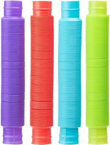4Pack Colorful Slinky Brand Pop Toob Kids Spring Toy MADE IN USA
