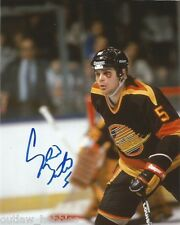 Vancouver Canucks Garth Butcher Signed Autographed 8x10 Photo COA A