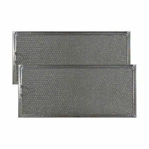 COMPATIBLE WHIRLPOOL 6802A ALUMINUM GREASE MESH MICROWAVE OVEN FILTERS (2 Pack)