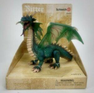 "Schleich Green Dragon World of Knights 5.5"" Emerald DRAGON"