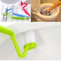 Bowl Corner Clean Bathroom Bent Handle Scrubber V-type Toilet Brush Cleaner