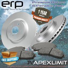 Front 2 Premium Rotors and 4 Ceramic Pads for (2006-2012) Infiniti FX35 FX45
