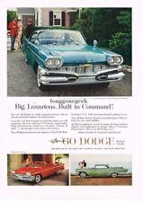 1960 DODGE Matador Blue 2-door Hardtop Vtg Print Ad