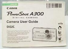 Canon PowerShot A300 digital camera instruction manual 2003