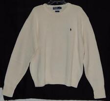 POLO RALPH LAUREN Men's Cream Cotton Crewneck Pullover Sweater Size XL