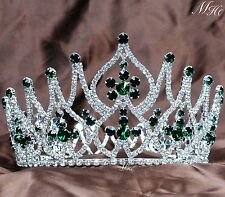Emerald Tiaras Green Crystal Crowns Headband Beauty Pageant Prom Party Costumes