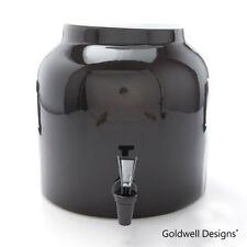 Goldwell Designs Porcelain Ceramic Water Dispenser Crock - Solid Black DS131
