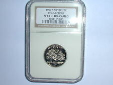 1999-S 25C Silver Connecticut State Quarter NGC PF 69 UC
