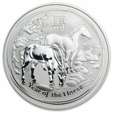 2014 Perth Mint Lunar Year of The Horse 10 oz .999 Silver Coin Comes In Capsule