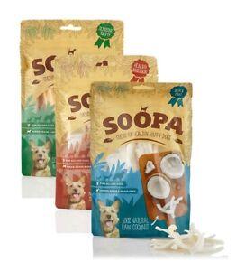 Soopa 100% Fruit & Veg Healthy Dog Chews 100g Treats hypoallergenic grain free