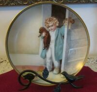 """Good Morning"" Bessie Gutmann Collector's Hamilton Plate w/wall hanger    440"
