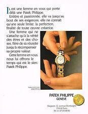 PUBLICITE ADVERTISING 074  1989  PATEK PHILIPPE montres Collection NAUTILUS