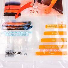 Housse Stockage Sac de Rangement Compression Sous Vide Vacuum 4 Tailles Maison
