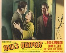 Joan Leslie Hell's Outpost Signed Autograph Photo w/ Rod Cameron