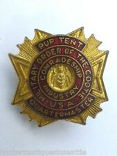 Pup Tent Military Order of the Cootie, USA VFW Quartermaster -  Enameled Pin