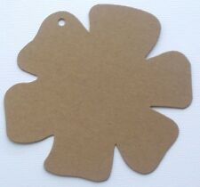 """{4}  LARGE FLOWER - Chipboard Pages ~ Make an Album - Bare Die Cuts - 5"""""""