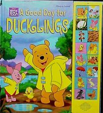 Disney Winnie The Pooh A Good Day For Duckling Sound Talking Electronic Book New