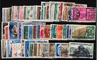 Repubblica - Lotto da 55  francobolli usati perfetti- perfetti -