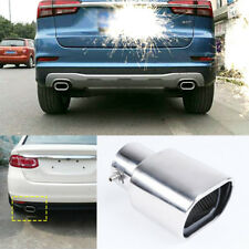 63mm Car Straight Stainless Steel Exhaust Square Rear Tail Silencer Tip Pipe End