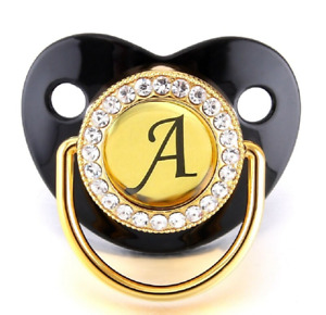 Dummy Pacifier Name Initial Letters Newborn Baby Kids Silicone Orthodontic Gift