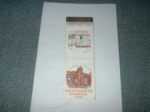 1939 WALLET CARTON MATCH CO, MATCHBOOK, WESTMINSTER HOSPITAL