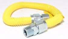 "3/4"" ID (1"" OD) x 72"" Tankless Water Heater Gas Flex Line Yellow Poly Coated"