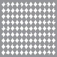 "Pochoir motif ""Arlequin vieilli"" - Americana Decor Stencil - 30,5X30,5cm"