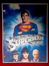 Warner Bros™ SUPERMAN THE MOVIE Original Film Script DC COMICS Rare Screenplay