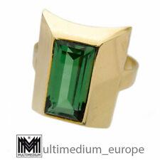 585er Gold Damen Ring turmalin farb. Stein grün tourmaline color 14ct🌺🌺🌺🌺🌺