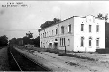 Old Photo.  Bay St. Louis, Mississippi.  L and N Depot (Train Station)