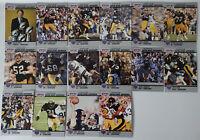 1990 Pro Set Super Bowl Supermen Pittsburgh Steelers Team Set 16 Football Cards