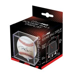 Ultra Pro Square Baseball Holder 2 Piece Cube Display Case with 3 Prong Cradle