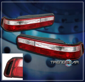 1990 1991 1992 1993 ACURA INTEGRA 2DR ALTEZZA TAIL LIGHT LAMP JDM RED/CLEAR PAIR