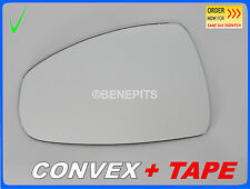 Wing Mirror Glass For Audi A1 2010-2015 CONVEX + TAPE Left Side #A026 /416